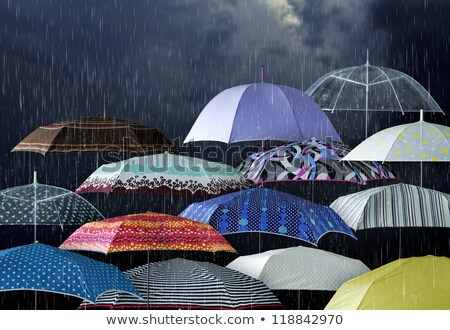 mystic umbrella protection Stock photo © psychoshadow