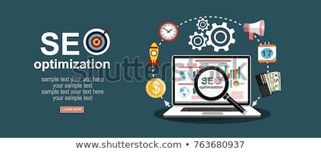 Seo ontwerp iconen achter business Stockfoto © DavidArts