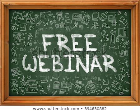 webinar · tecnologia · rede · estudar · treinamento · apresentação - foto stock © tashatuvango