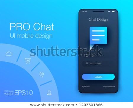 chat · interfész · sms · hírnök · ui · anyag - stock fotó © leo_edition