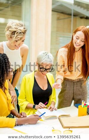 twórczej · działalności · pulpit · biznesmen · pracy - zdjęcia stock © kzenon