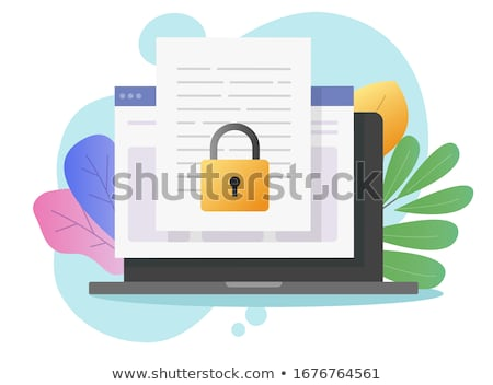 copyright concept on modern laptop screen stock photo © tashatuvango