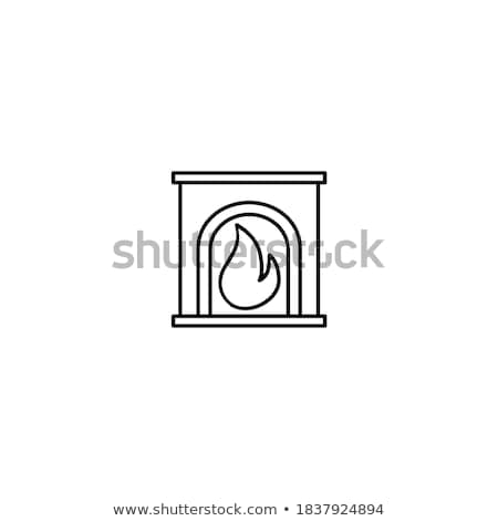 burning fireplace stock photo © 5xinc