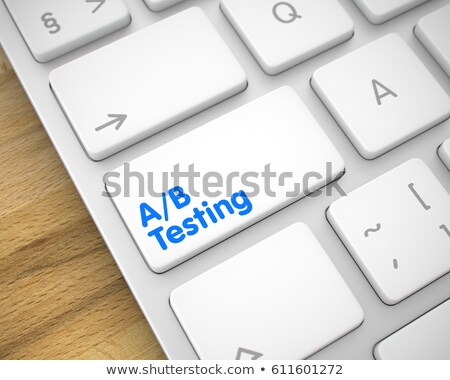 AB Test - Inscription on White Keyboard Key. 3D. Stock photo © tashatuvango