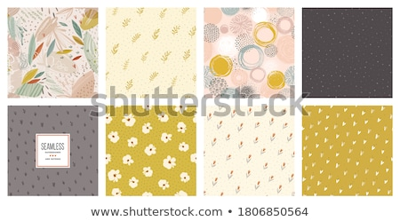 ősz vektor végtelenített minták szett illusztráció végtelen Stock fotó © tina7shin