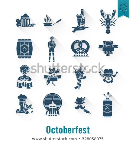 oktoberfest beer festival icons and symbol objects stock photo © reftel