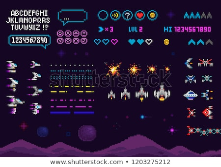 UFO isolated. Space Invader ALien ship. Vector illustration Stock photo © popaukropa