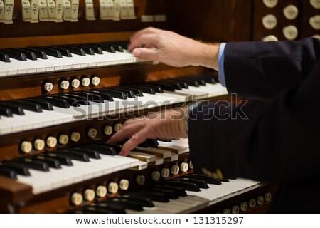 Güzel kilise organ taş mermer borular Stok fotoğraf © lithian