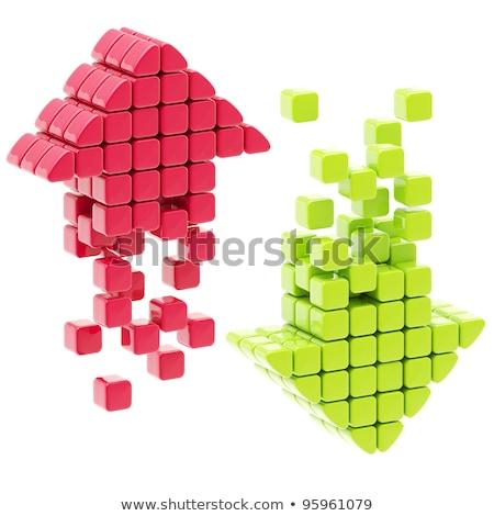 три красный стрелка 3d иллюстрации способом Сток-фото © drizzd