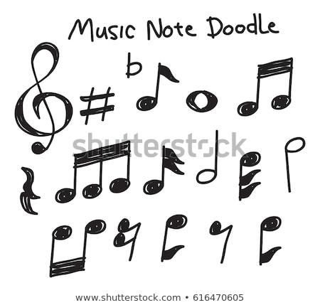 doodle music elements set sketch design stock photo © jeksongraphics