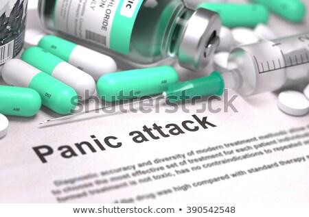 診断 パニック 攻撃 医療 3dのレンダリング レポート ストックフォト © tashatuvango