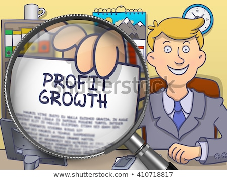 Profit through Magnifying Glass. Doodle Style. Stock photo © tashatuvango