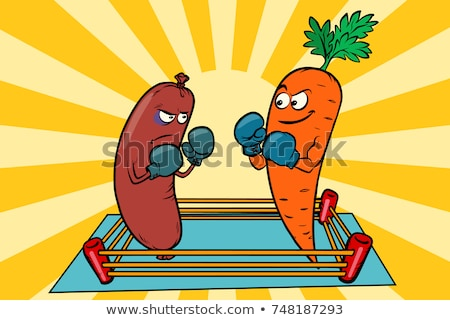 vegetarianism vs meat eating war of the diets stock photo © rogistok