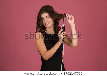 Stockfoto: Vrouw · portret · mooie · vrouw · model · haren · kleur