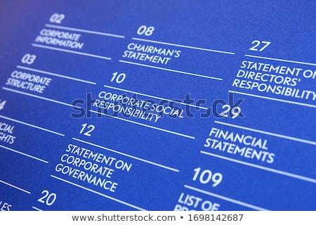 üzlet könyv cím adat elemzés boglya Stock fotó © tashatuvango