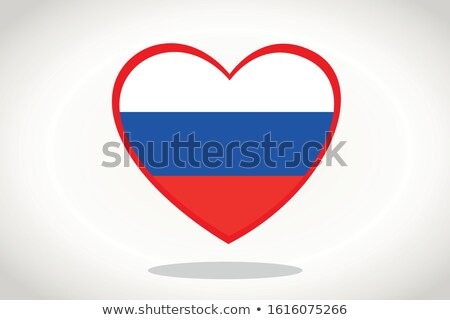 Russie coeur patriotique symbole dessinées cartoon Photo stock © rogistok