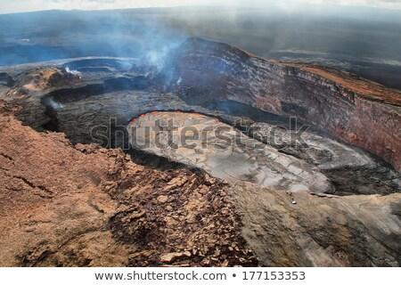 Kilauea Caldera Smoking, Big Island, Hawaii Stock photo © kraskoff