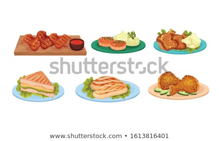 fatty fried chicken on plate Stock photo © ssuaphoto