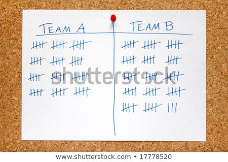 A record of team sales scores on an office noticeboard. Stock photo © latent