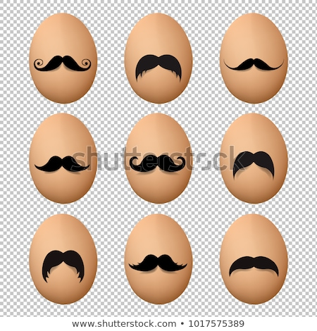 Eier Schnurrbart groß Set Gradienten Mesh Stock foto © adamson