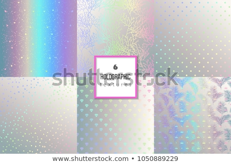 Abstract Poster with Bright Luminous Pink Diamons Stock photo © robuart