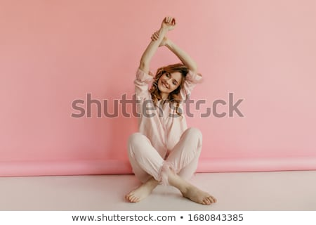 Stock photo: attractive slim blonde girl