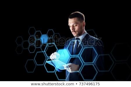 бизнесмен · костюм · рабочих · прозрачный · деловые · люди - Сток-фото © dolgachov