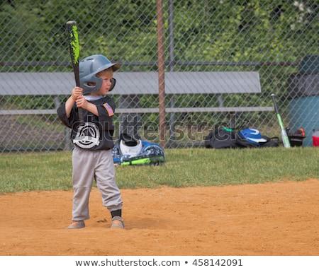ragazzo · giocare · swing · illustrazione · cielo · sfondo - foto d'archivio © rastudio