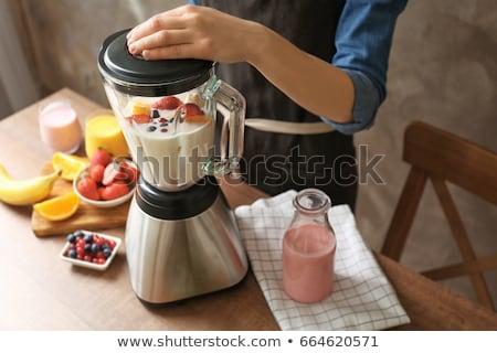 reggeli · smoothie · hozzávalók · finom · különböző · magvak - stock fotó © yuliyagontar
