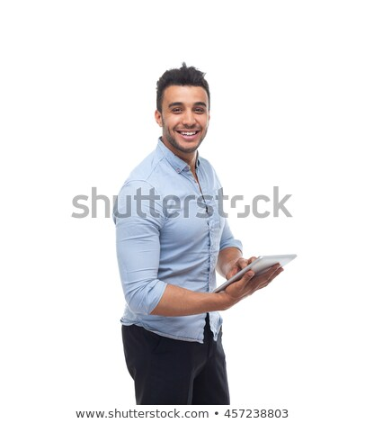 arabic man with tablet computer stock photo © studioworkstock