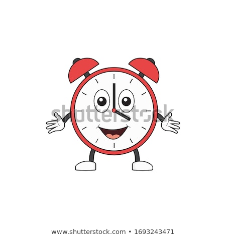 талисман будильник счастливым утра иллюстрация аналоговый Сток-фото © lenm