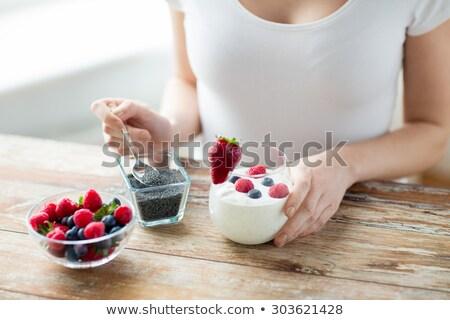 chia seed diet food concept stock photo © m-studio