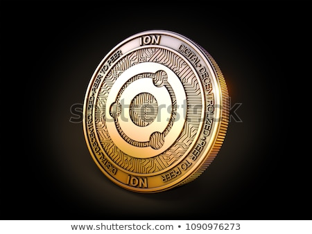 Ion - Cryptocurrency Coin. 3D rendering Stock photo © tashatuvango