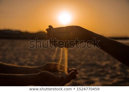 dziewczyna · łopata · ogród · szczęścia · stałego · fotografii - zdjęcia stock © is2