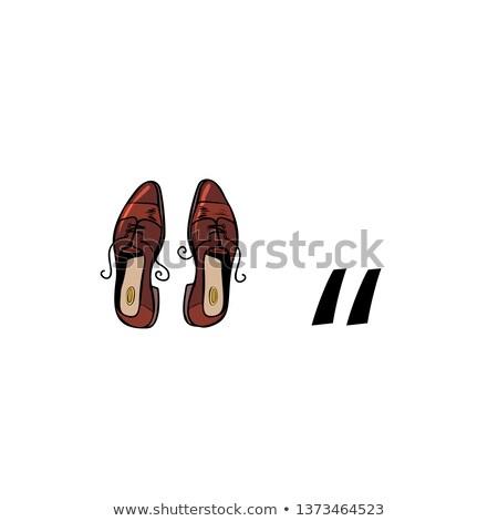 Quotation mark. Business people silhouette alphabet Stock photo © studiostoks