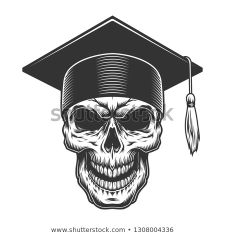 human skull in a graduate hat stock photo © rogistok