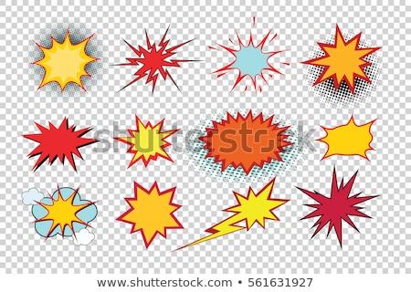 爆発 漫画 実例 透明な 白 ストックフォト © romvo
