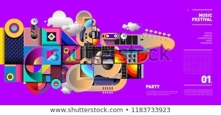 дизайна типографики иллюстрация музыкальные инструменты Сток-фото © lenm