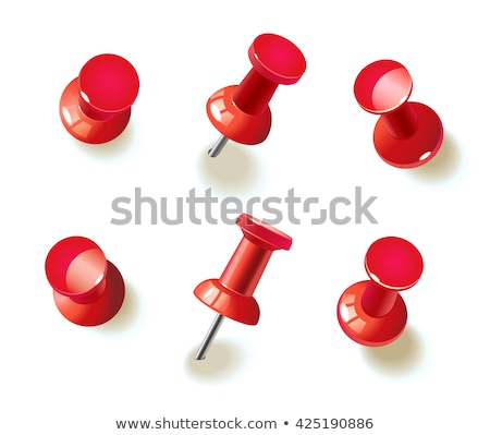 Stock photo: Red push office pin