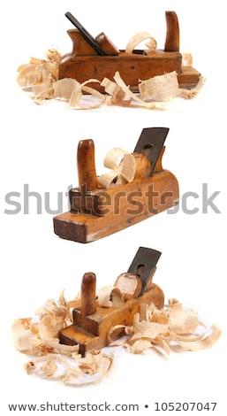 изолированный плотничные работы плоскости белый древесины стали Сток-фото © taviphoto