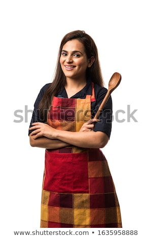 White coat women_cooking Stock photo © toyotoyo