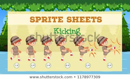 kick · flash · meisjes · witte · kinderen - stockfoto © bluering