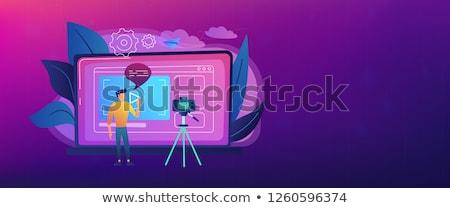 Bloging header or footer banner. Stock photo © RAStudio