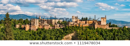 Panorama of Granada Stock photo © benkrut