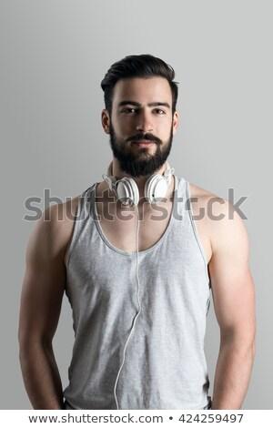 saudável · muscular · homem · isolado · branco - foto stock © feedough