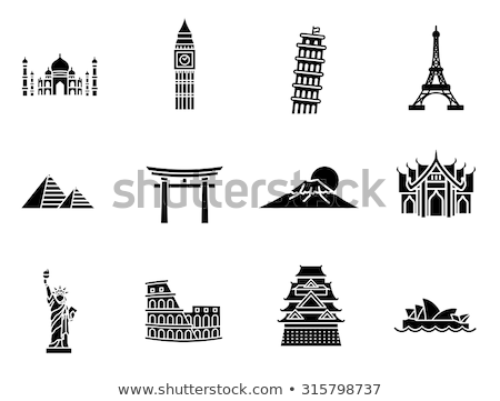 Portão Sydney Opera House turista ver Taj Mahal Foto stock © robuart