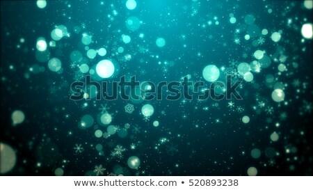 抽象的な 未来的な クリスマス スノーフレーク 青 陽気な ストックフォト © isveta