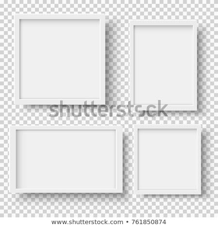 Resim çerçevesi yalıtılmış beyaz eğim duvar Stok fotoğraf © adamson