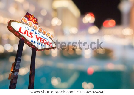 Las · Vegas · turva · noite · abstrato · cidade · cityscape - foto stock © vichie81