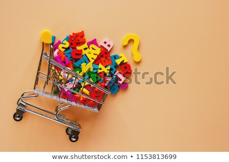 Spell English word cart Stock photo © bluering